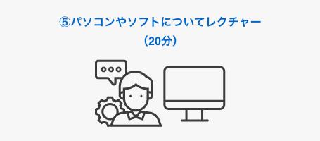 5. パソコンやソフトについてレクチャー(20分)