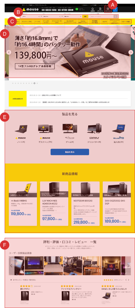 トップページのスクリーンショット