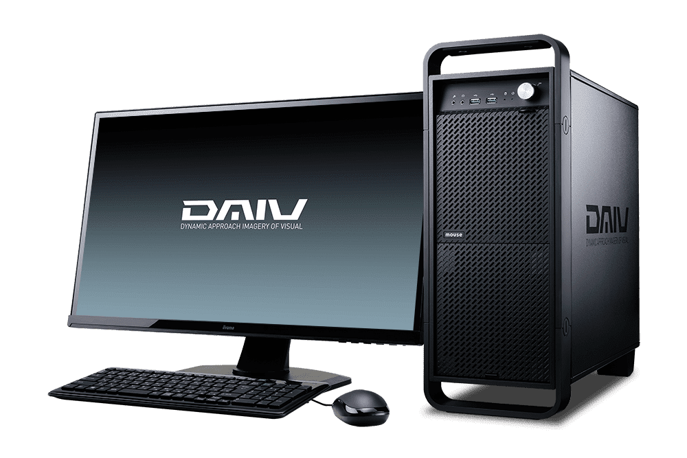【マウスコンピューター/DAIV】DAIV-DGZ530U3-M2SS-BRAW[クリエイターデスクトップPC]